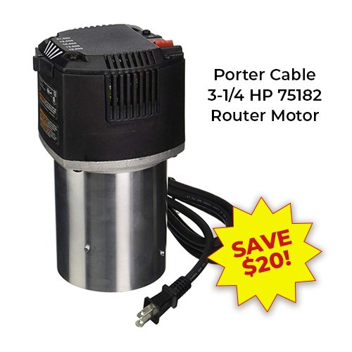Porter Cable 75182 Router Motor | PMC Machines & Tools