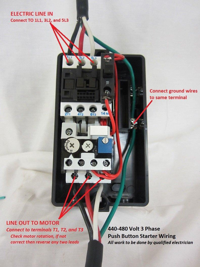 220 Volt Magnetic Starter Wiring Diagram