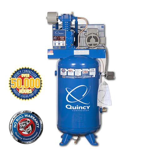 Quincy QT Series 5HP, 80-Gallon 1-Phase Two-Stage Air Compressor | PMC Woodworking Machinery & Tools | Hammond, LA
