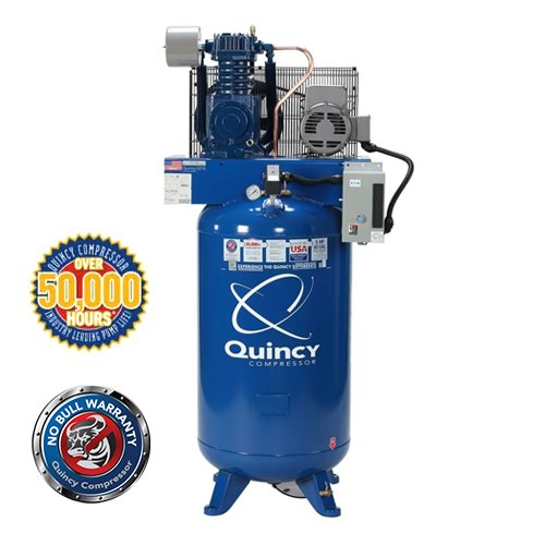 Quincy QT Series 5HP, 80-Gallon 1-Phase Two-Stage Air Compressor with Magnetic Starter | PMC Woodworking Machinery & Tools | Hammond, LA