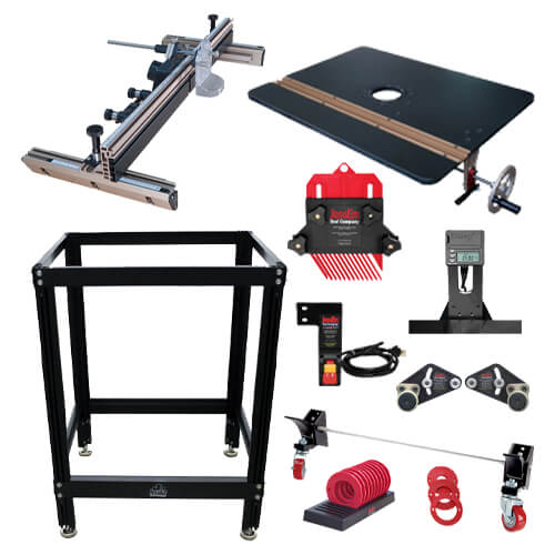 Jessem Ultimate DRO Router Table Package w 10 PC Insert Rings | PMC Woodworking Machinery & Tools | Hammond, LA